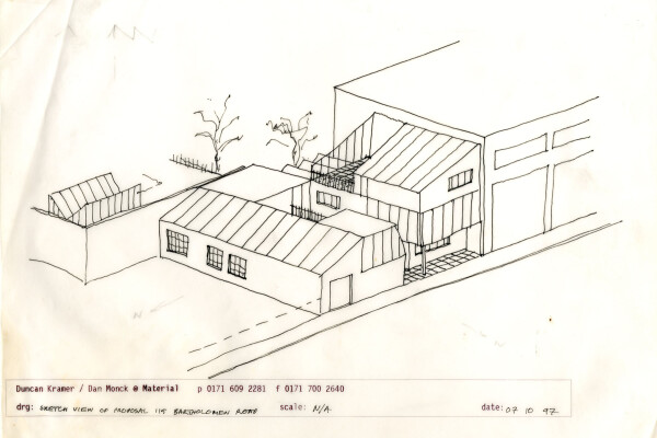 Early sketch view (October 1997) of proposal for 115
