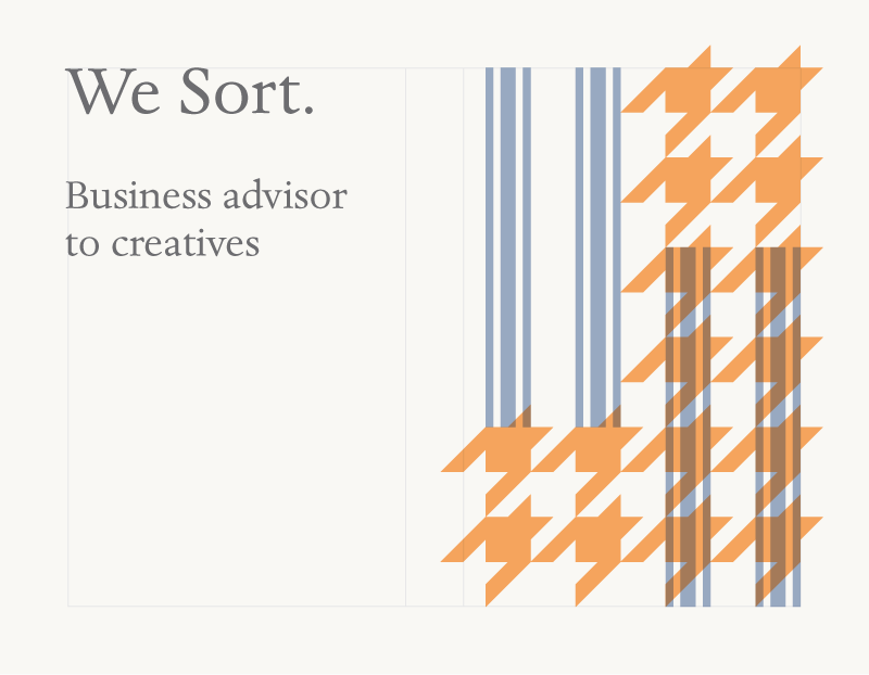 Business card with text Business advisor to creatives