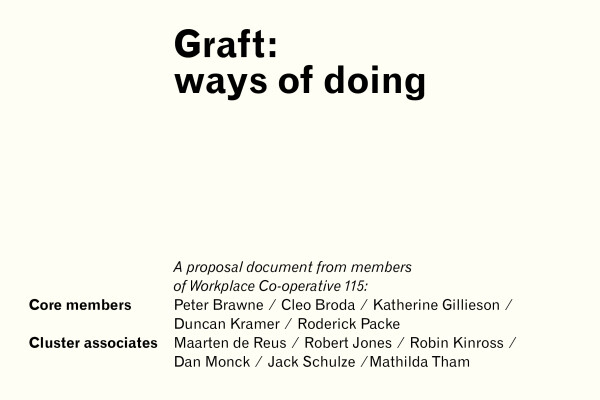 'Graft' proposal: cover