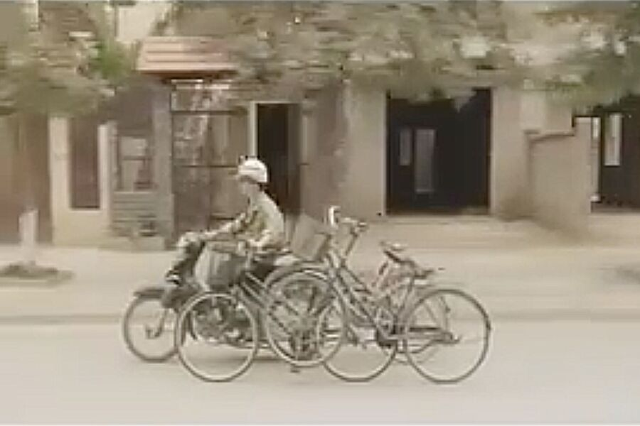 Film clips, bicycles: film still